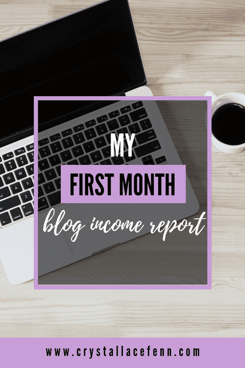 My First Month Blog Income Report
