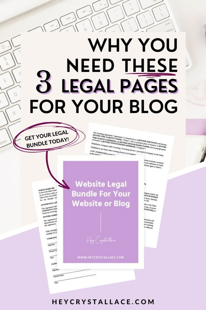 Why You Need These 3 Legal Pages for Your Blog