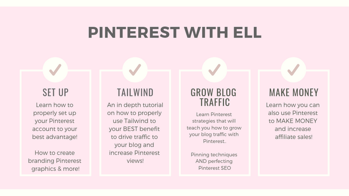 7 Easy Ways to Increase Your Blog Traffic With Pinterest. Pinterest course: Pinterest with ell