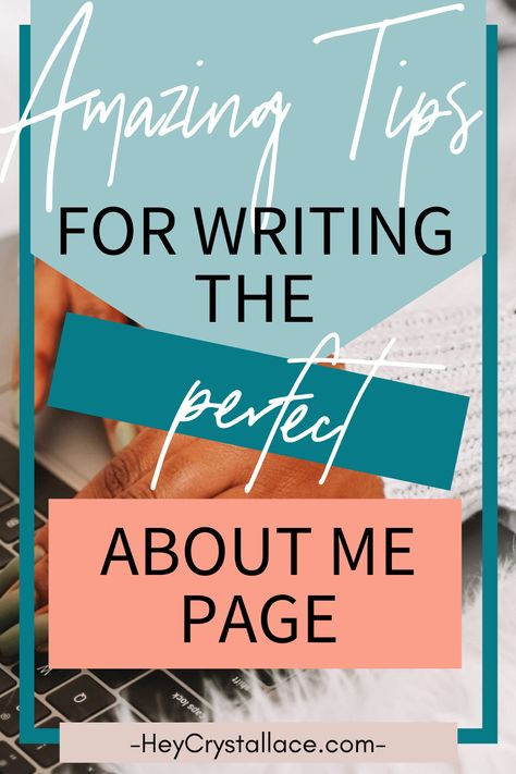 How To Write the Perfect About Me Page to Get Brand Deals